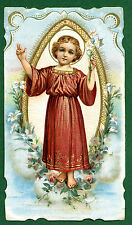 SANTINO ANTICO GESU' BAMBINO  CROMO-IMAGE PIEUSE-HOLY CARD santini