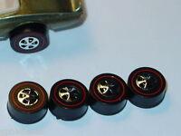 Hot Wheels Redline REPRO WHEELS 4 Large HK Black Bearing Set of 4 -NEW!