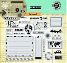 HERO ARTS CLING RUBBER Stamps TRAVEL STAMP YOUR STORY Huge Set Go Your Own Way