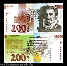 SLOVENIA 200 TOLAR P15 1992 EURO PHILHARMONIC MUSIC DRAWING UNC CURRENCY MONEY