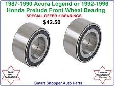 Front wheel bearing For 1992-1996 Honda Prelude or 1987 - 1990 Acura Legend-pair