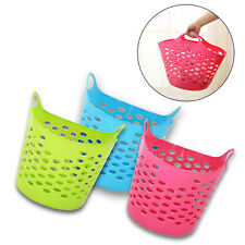 New Laundry Basket Home Clothes Washing Flexible  Flexible Tall Clothing UK