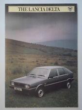 LANCIA Delta 1500 Orig 1982 Reino Unido Mkt folleto de ventas