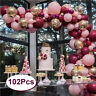 102Pcs Balloons Pink Gold Confetti Balloons Garland Birthday Wedding Party Decor