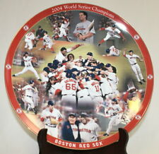 """Danbury Mint 12"""" Collector Plate Red Sox 2004 World Series Champions"""