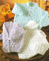 "Baby Cardigans and Sweater Knitting Patterns in DK 16-22""   253"