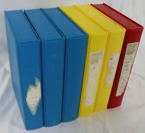 Lot of Five Plastic 3.5 Inch Diskette Library Boxes Holding 10 Disks Each
