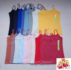 ❤PRIMARK Ladies Stretch Plain Cami Vest Adjustable Straps Top Size 8 10 12 14 16