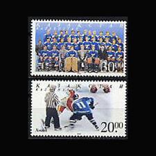 Kazakhstan, Sc #284-85, MNH, 1999, Ice Hockey, sports, 6AHI