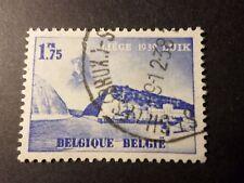 BELGIQUE 1938, timbre 487 EXPOSITION LIEGE, PAYSAGE oblitéré, VF STAMP LANDSCAPE