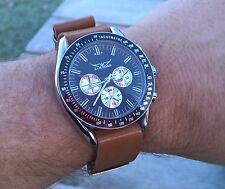 Classic Daytona Speedmaster large automatic chronograph style on NATO leather