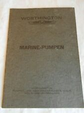 Vintage catalogue worthington Marine pumps 1930s