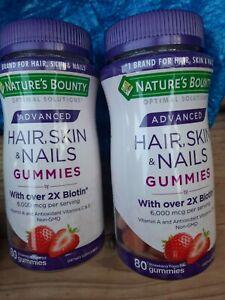 Nature's Bounty Optimal Solutions Advanced Hair,Skin,Nails, 2X Biotin, 2x  5/23