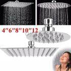 4/6/8/10/12'' Stainless Steel Shower Head Rainfall Bathroom Sprayer Round/Square