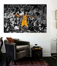 Kobe Bryant Celebrating Laker Championship Canvas Wall Art Print 36 x 20