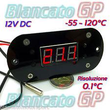 TERMOSTATO DIGITALE ELETTRONICO 12V DC NTC 10K 3950 -55℃ 120℃ TERMOMETRO 10A LED