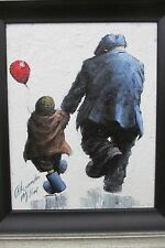 "Alexander Millar, ""Skippin' with Grandad"", Original Oil Painting"