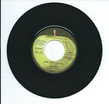 "1973 WINGS ""LIVE AND LET DIE"" 45rpm 7"""