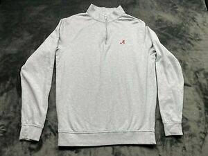 Peter Millar Long Sleeve Men's Pullover Solid Grey Jacket Size Small Alabama