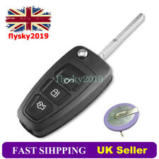 For Ford Transit Custom 3 Button Remote Key Fob Case Repair Kit + Battery VL2020