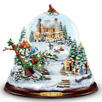 Thomas Kinkade Musical Snowglobe With Color-Changing Lights
