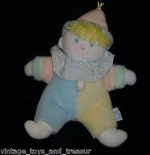"""12"""" VINTAGE EDEN BABY CLOWN WIND UP MUSICAL STUFFED ANIMAL PLUSH TOY DOLL WORKS"""