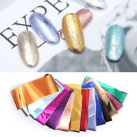 14Pcs/Set Nail Foils Silver Gold Transfer Stickers Nail Art Decoration Design