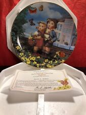 "M.J. Hummel Little Companions Collector Plate ""Surprise"" Mint 1992 Mib Danbury"