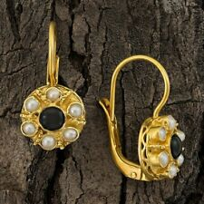 Cluster Onyx and Pearl Earrings: Museum of Jewelry