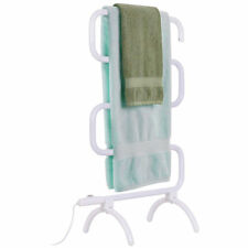 100W Electric Towel Warmer Drying Rack Freestanding and Wall Mounted White New