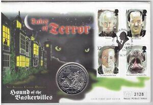 GIBRALTAR CU-NI 1 CROWN UNC COIN 1994 YEAR KM#290 SHERLOCK HOLMES BASKERVILLES