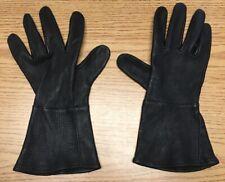 Curchill Glove Co. Maverick Leather Gauntlet Gloves, Black, XS