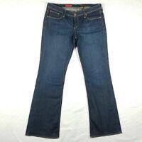 AG ADRIANO GOLDSCHMIED Dark Blue Wash MERLOT Boot Cut Jeans Womens 31R 34x33