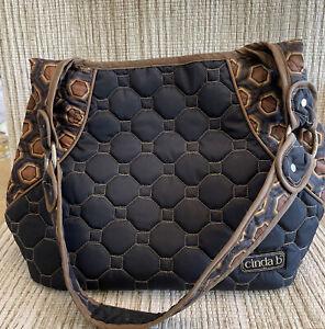 Cinda B Quilted Shoulder Bag Purse