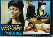 MUSETTA VANDER SIGNED 2015 STAR TEK VOYAGER HEROES & VILLAINS #29 - DERRAN TAL