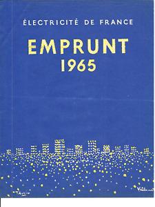 PROSPECTUS EMPRUNT ELECTRICITE DE FRANCE EDF 1965