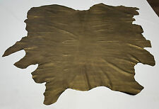 LEATHER COW HIDE GOLD & BLACK EMBOSSED SHAGREEN UPHOLSTERY CRAFT COWHIDES TS-724
