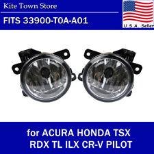Pair Fog Light Lamp LH RH for ACURA HONDA TSX RDX TL ILX CRV PILOT 33900-T0A-A01