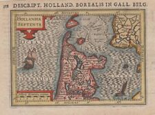 1616 Fine Bertius Map of North Holland