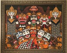 Oil Painting Balinese with high quality brushed frame