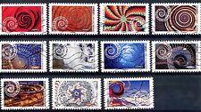 """Lot de 11 timbres oblitérés ' LES DYNAMIQUES""""   de 2014"""