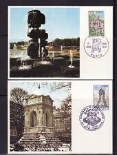 carte  1er jour  EUROPA  Paris  et Strasbourg        1978