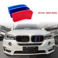 3D M-Color Sport Kidney Grill Grille Bar Cover Trim for BMW X 6 F16 2015-2016