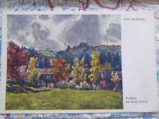 Herbst Landschaft Tschechien Gemälde Kunstwerk Postkarte Ansichtskarte 3019