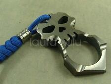 Titanium Skull survival tool self defense key pendant outdoor EDC+Titanium Bead