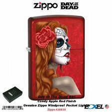 Zippo 28830 Day of the Dead Girl, Candy Apple Red Lighter