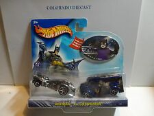 Hot Wheels Batman vs Cat Woman 2 Car Set w/Exclusive Dairy Delivery