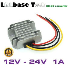 DC to DC 12V to 24V 1A Step-up Power Converter, 24W Voltage Converter Waterproof