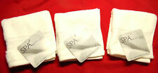 3 NEW SPA Kassatex Egyptian Cotton Wash Clothes Zero Twist Collection