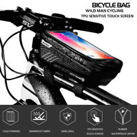 Front Bag 6.2 inch Phone MTB Bike Frame Mobile Case Bag Waterproof Tube Pouch K
